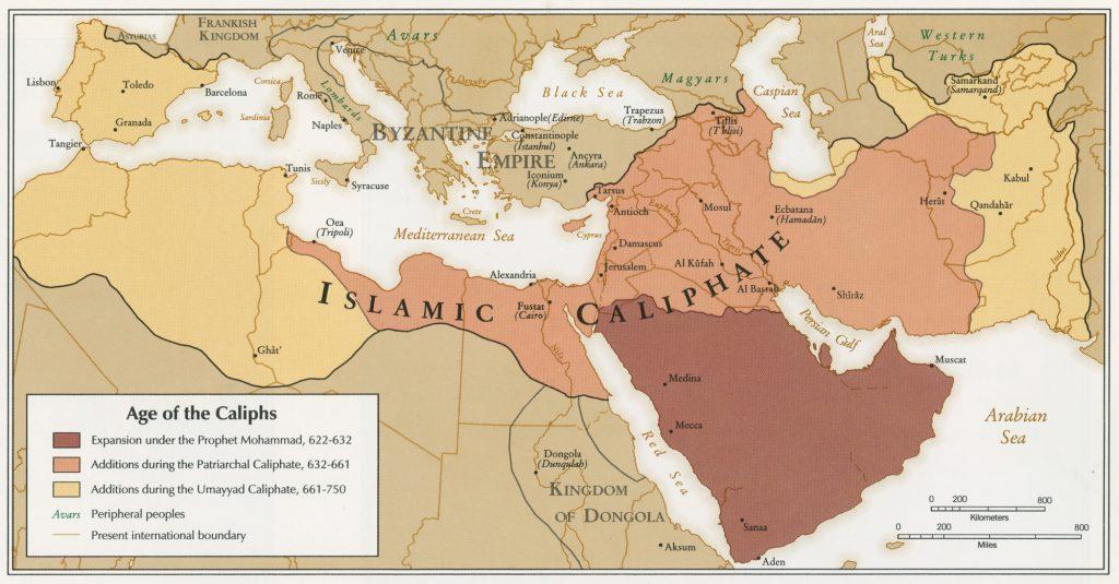 expansión del islam mapa