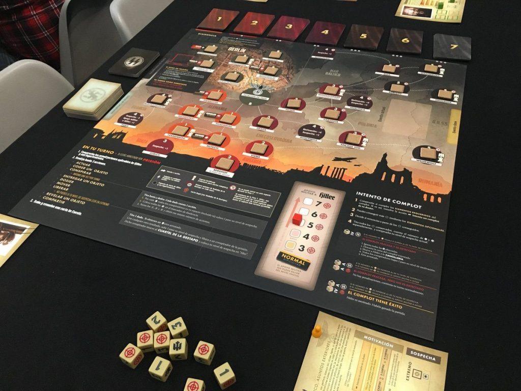 tablero juego de mesa Hitler