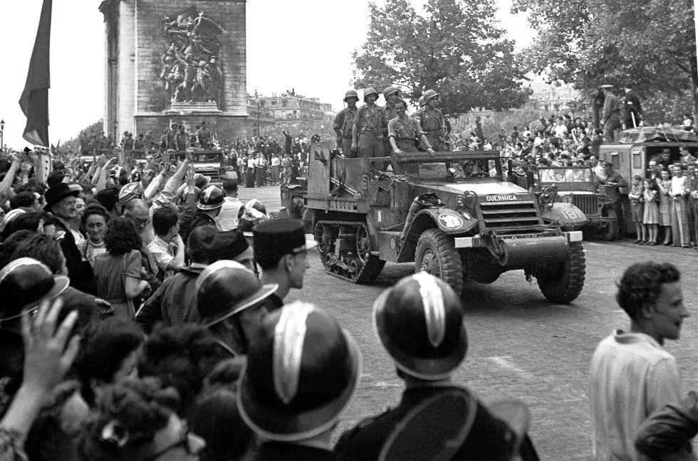 Vehículo de La Nueve en París