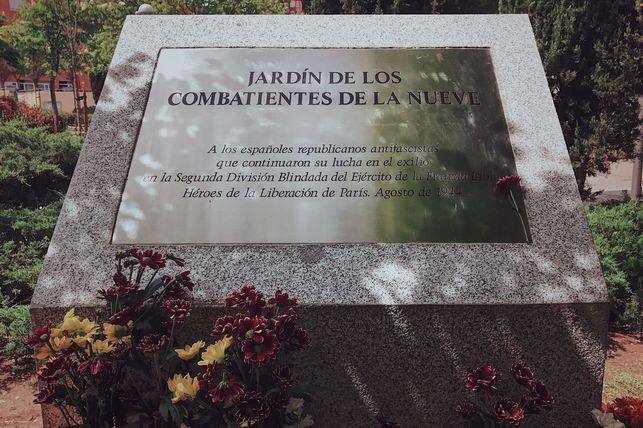 Placa de homenaje a los soldados de La Nueve, Madrid