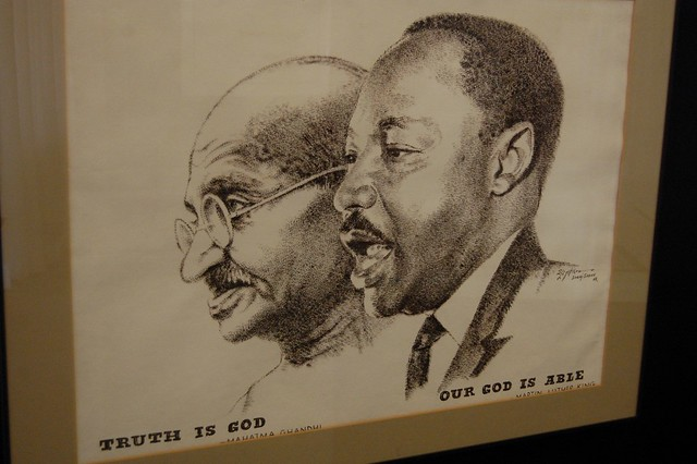 Ghandi y Martin Luther King