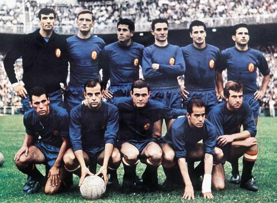Selección española con Franco
