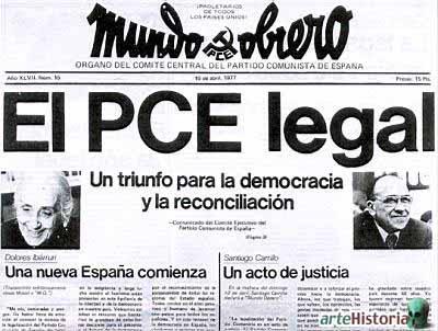 Legalización PCE