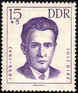 Sello con el rostro de José Díaz Campos