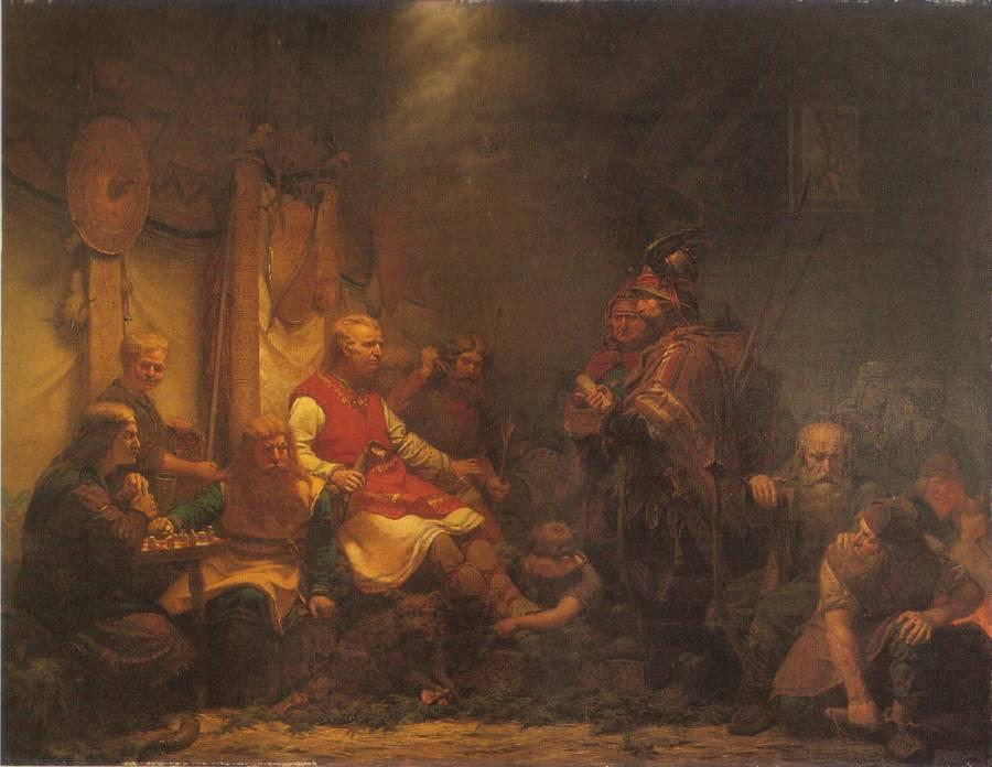 Mensajero rey Aella hijos Ragnar Lodbrok